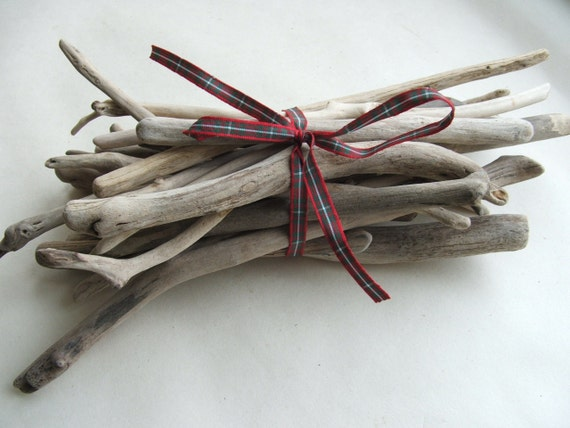 25 Craft Driftwood Pieces 6 to 9 inches For Crafts and Projects