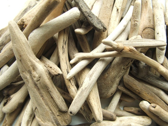 100 Driftwood Supplies Pieces 1 to 5 inches For Crafts and Projects