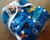 Bumpin' Bum cloth diaper cover (one size fits all) Shark Bait