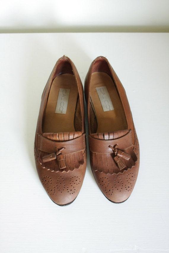 vintage 80s oxford tassel shoes// 8.5N