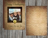 Thanksgiving Holiday Family Photo Card - Double Sided - Printable Uprint