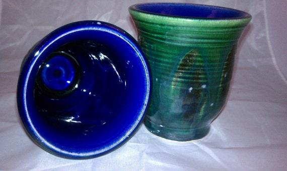 Blue green tumbler set