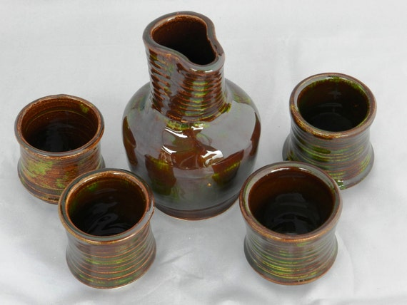 Autumn brown sake set