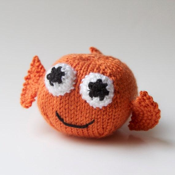 Amigurumi Ball Animal : Goldfish Toy Stuffed Animal Amigurumi Handmade Plush Knit