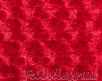 10 yards Red Rose Bud Minky fabric per yard
