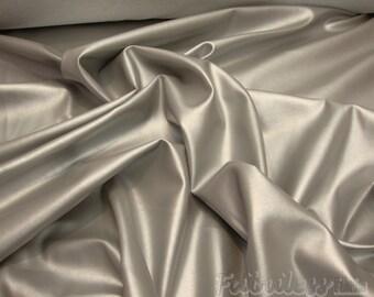 "54"" Wide Dark Silver Clothing / Upholstery PVC faux vinyl fabric per yard"