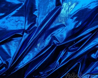 "Spandex Metallic 4 way strech Royal Lycra dance swim fabric sold by the yard 60"" wide"
