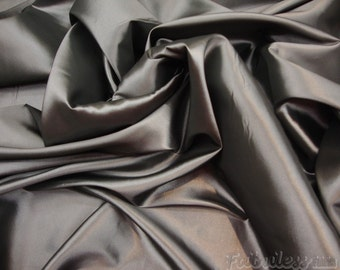 50 yards Pewter Dress Drapery Taffeta fabric