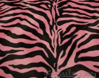 Velboa upholstery Zebra Large Pink Velboa Fabric Per yard