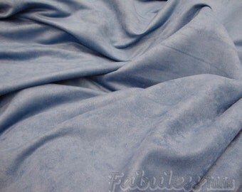 """Sky Blue Polyester micro faux suede upholstery fabric by the yard 60"""" Wide"""