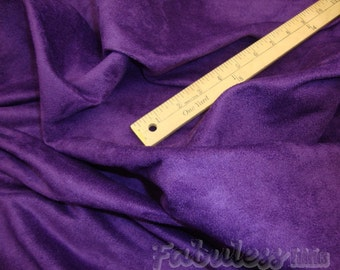 """60"""" Wide Purple Polyester micro faux suede upholstery fabric by the yard"""