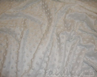 White Minky Dimple Dot baby blanket  Fabric per yard