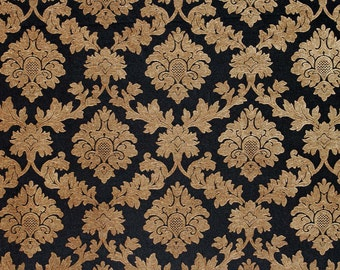 10 Yards Caviar Damask Chenille Upholstery and Drapery fabric