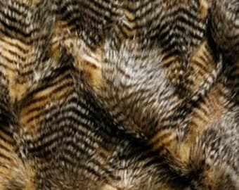 Brown Feathered Shag fabric per yard