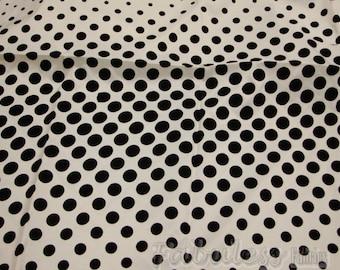Taffeta Black Flocking dots fabric per yar