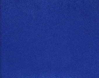 """60"""" Wide Royal  Polyester micro faux suede upholstery fabric by the yard"""
