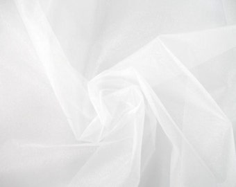 """10 yards white color crystal Organza fabric 58"""" wide"""