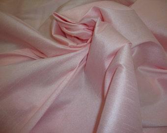 Pink Ice Shantung Dupioni Faux Silk fabric per yard