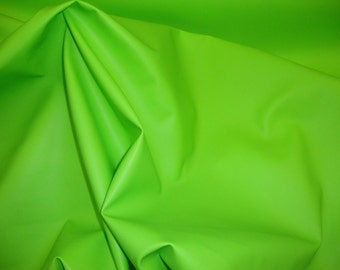"Vinyl Faux leather soft skin Lime upholstery fabric 55"" sold per yard"