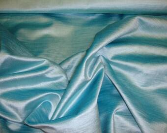 Aqua Cotton Rayon Blend Velvet fabric per yard