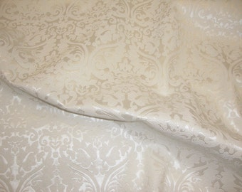 "Vinyl Leather faux Pearl Parisian Embossed Damask Vinyl upholstery Drapery  fabric per yard 55"" wide"
