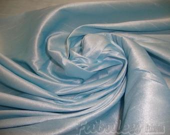 Baby Blue  Shantung Dupioni Faux Silk fabric per yard