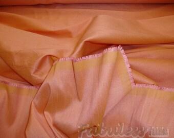 Peach   Shantung Dupioni Faux Silk fabric per yard