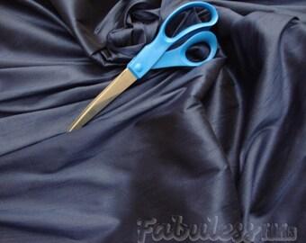 Navy Shantung Dupioni Faux Silk fabric per yard