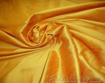 Honey Gold  Shantung Dupioni Faux Silk fabric per yard