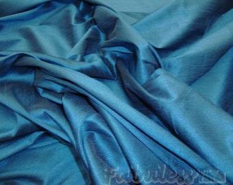 Teal  Shantung Dupioni Faux Silk fabric per yard