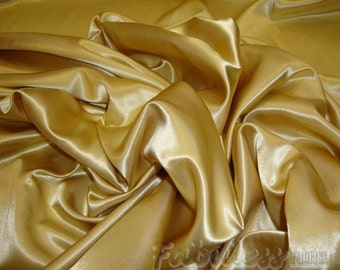 Satin  Honey Gold  Bridal Satin drapery dress fabric