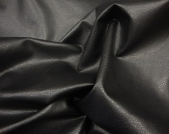 Vinyl Black Upholstery Ford faux Vinyl fabric per yard