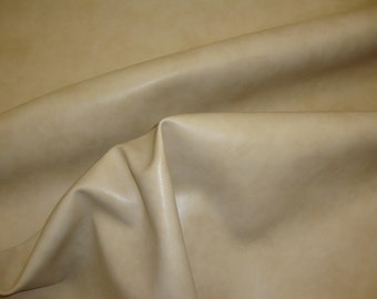 Cream Bonded Leather Vinyl Upholstery fabric per yard
