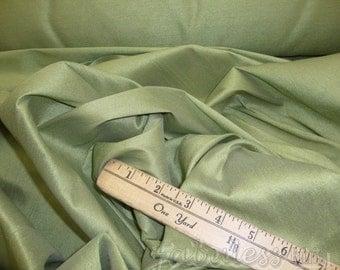 "Sage  Shantung Dupioni Faux Silk drapery dress fabric per yard 60"" Wide"