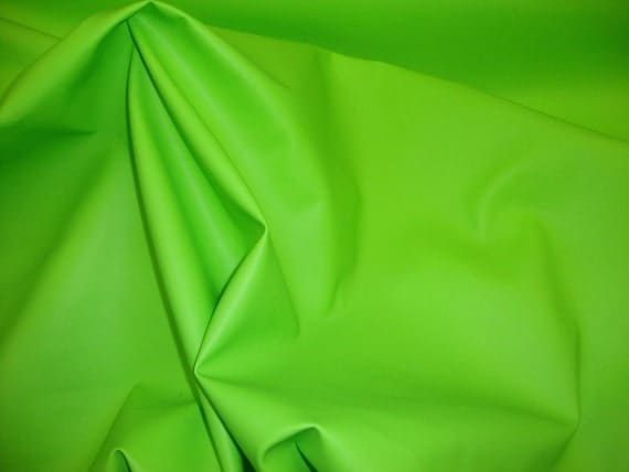"""Vinyl Faux leather soft skin Lime upholstery fabric 55"""" sold per yard"""