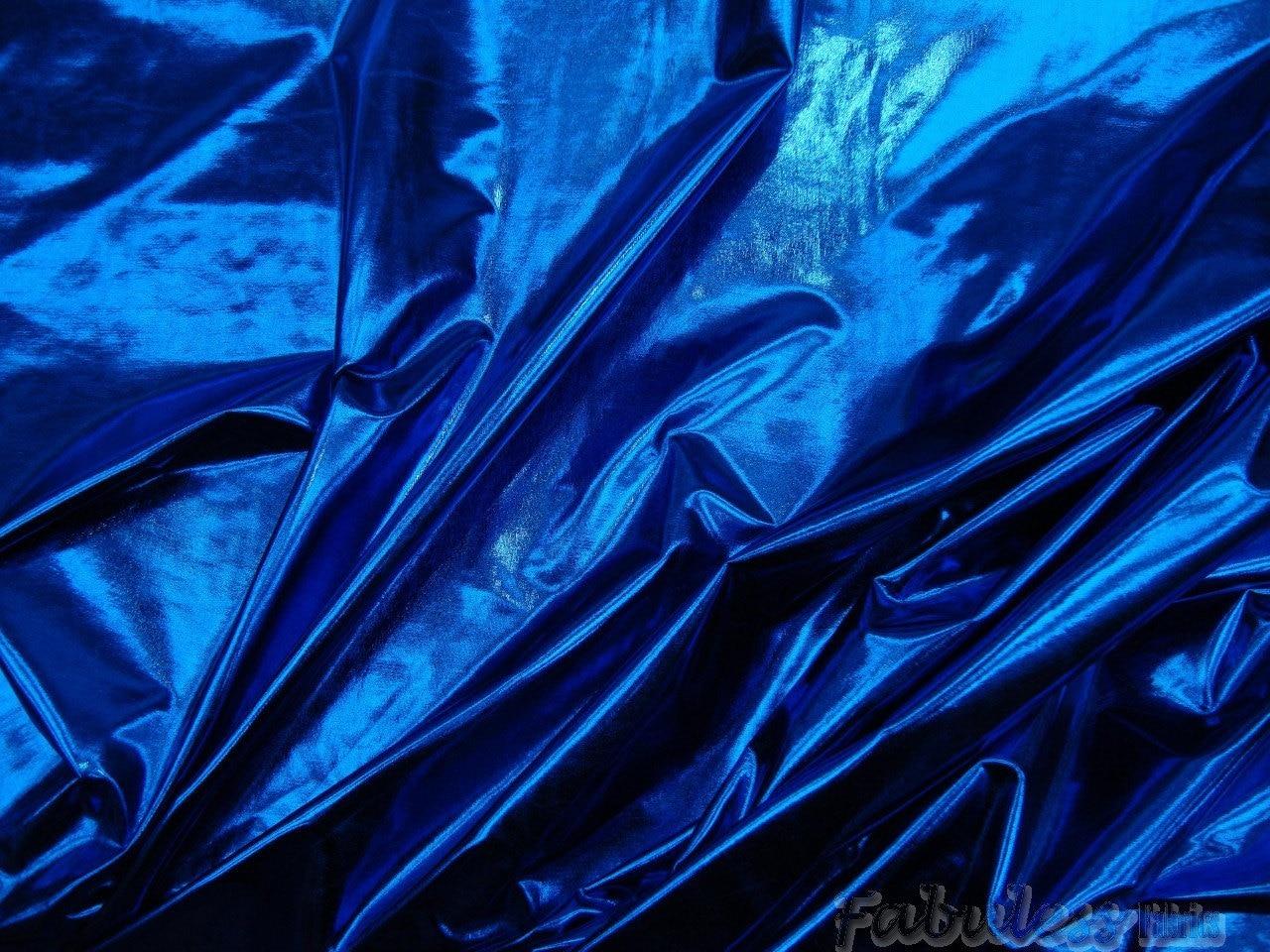 10 yards royal metallic spandex lycra fabric for Lycra fabric
