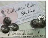 5pces. Antique pewter shank metal western cowboy design buttons for costume ethnic indian by Catherine Cole Studio