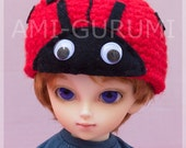 Yo-SD amigurumi ladybug hat