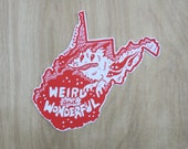 WEST VIRGINIA Sticker -- quantity 1