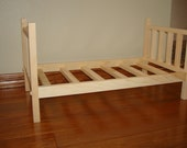 20% OFF SALE Solid Wood Doll Bed fits American Girl