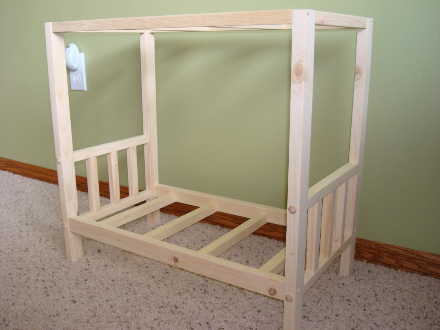 Amazing photo of Items similar to Solid Wood Canopy Bed Fits American Girl Doll on Etsy with #492310 color and 1500x1125 pixels