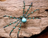 Sun Catcher /Christmas Spider Ornament/  Turquoise