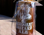 Arrogant Bastard Ale Recycled Wine/ Liquor Bottle Candle FREE SHIPPING