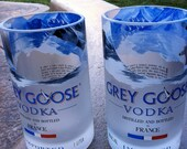 Recycled Repurposed Grey Goose Bottle Tumblers set of 2