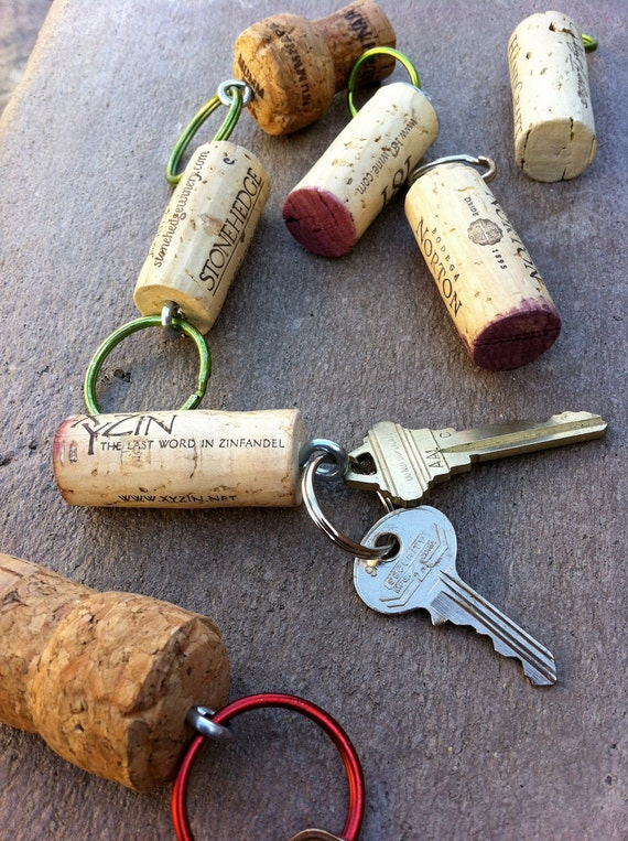 Recycled Cork Key Chains For karrykay qty 4