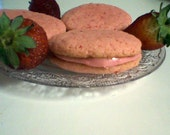 Strawberries and Cream Sandwich Cookies (12 cookies)