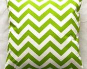 Premier Prints Chartreuse Chevron Pillow Cover- 16x16 inches- Hidden Zipper Closure