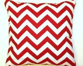 Premier Prints Lipstick Red Chevron Pillow Cover- 16x16 inches- Hidden Zipper Closure - Modernality2