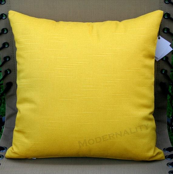 SCHOOL SALE- Premier Prints Solid Yellow Pillow Cover- 20x20 inches- Hidden Zipper Closure (One Left)