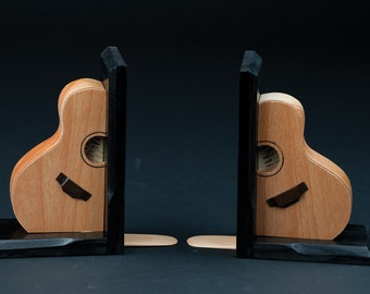 Handmade Guitar Bookends
